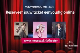 Het doek gaat weer op in het theater in De Meerpaal. Kaartverkoop gestart!